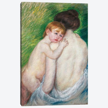 The Bare Back, 1906 Canvas Print #BMN6871} by Mary Stevenson Cassatt Canvas Artwork
