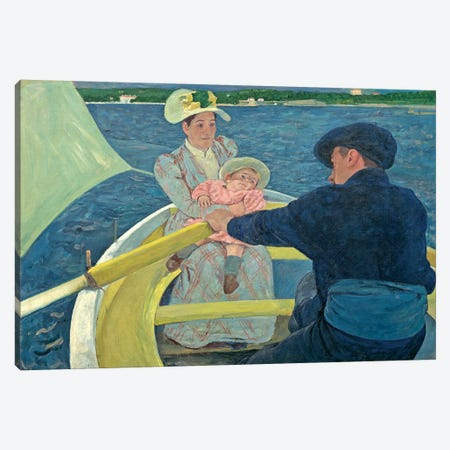 The Boating Party, 1893-94 Canvas Print #BMN6872} by Mary Stevenson Cassatt Canvas Art