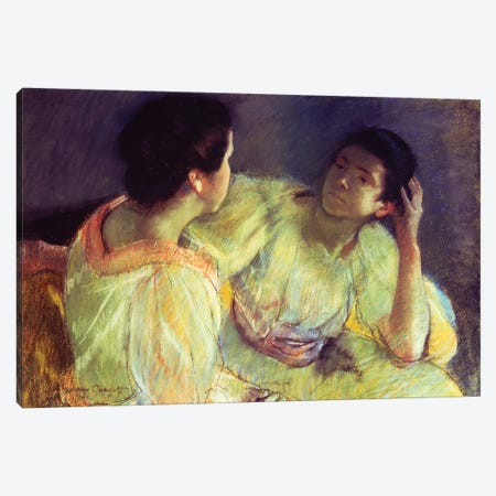The Conversation, c.1896 Canvas Print #BMN6874} by Mary Stevenson Cassatt Art Print