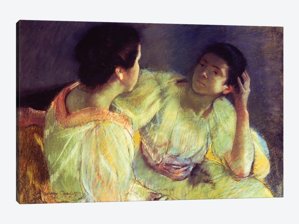 The Conversation, c.1896 by Mary Stevenson Cassatt 1-piece Art Print