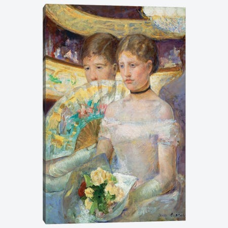 The Loge, 1882 Canvas Print #BMN6875} by Mary Stevenson Cassatt Art Print