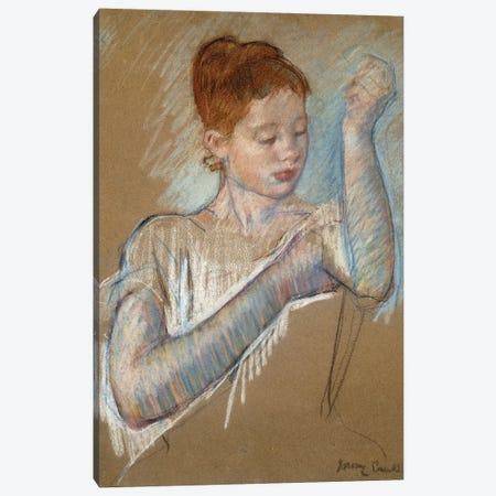 The Long Gloves, 1889 Canvas Print #BMN6876} by Mary Stevenson Cassatt Canvas Print