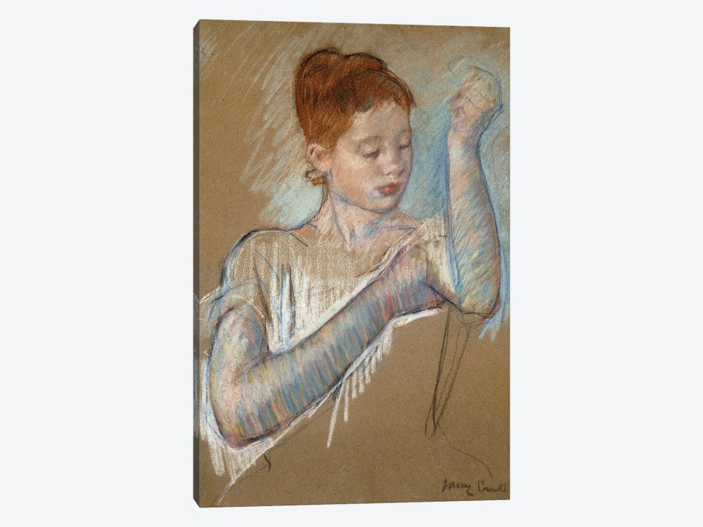 The Long Gloves, 1889 by Mary Stevenson Cassatt 1-piece Canvas Print