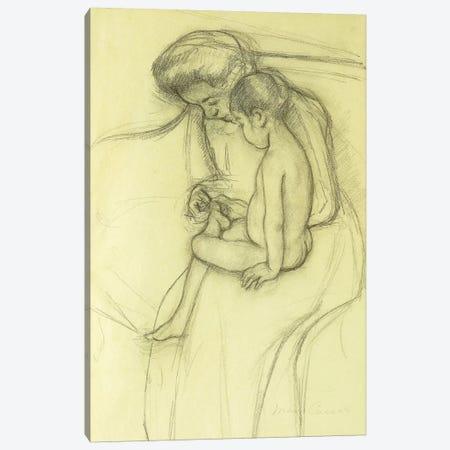 The Pedicure, c.1908 Canvas Print #BMN6877} by Mary Stevenson Cassatt Canvas Art Print