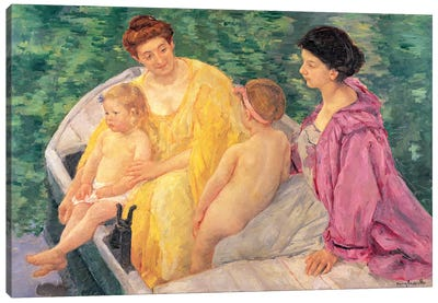 The Swim (Two Mothers And Their Children On A Boat), 1910 Canvas Print #BMN6878