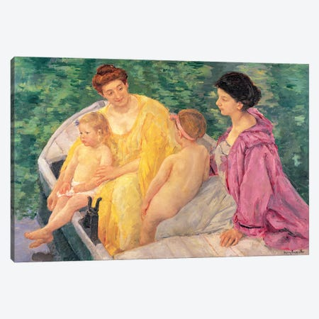 The Swim (Two Mothers And Their Children On A Boat), 1910 Canvas Print #BMN6878} by Mary Stevenson Cassatt Canvas Artwork