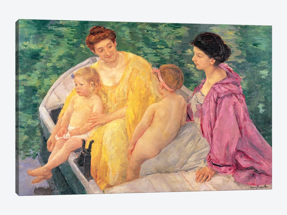 The Swim (Two Mothers And Their Children On A Boat), 1910 by Mary Stevenson Cassatt 1-piece Canvas Print