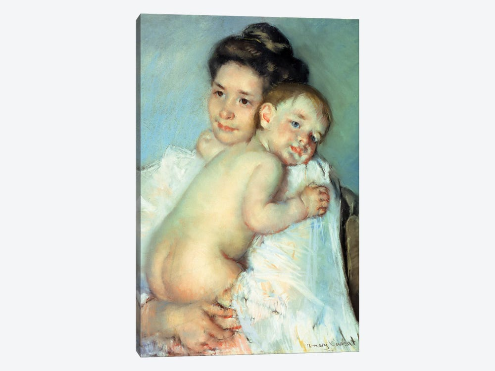 The Young Mother by Mary Stevenson Cassatt 1-piece Canvas Art