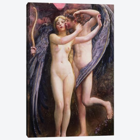 Cupid and Psyche Canvas Print #BMN687} by Annie Louisa Swynnerton Art Print