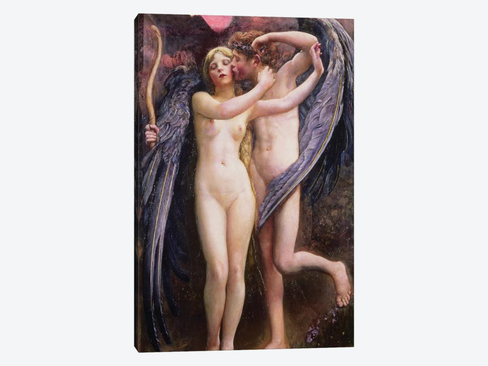 Cupid and Psyche by Annie Louisa Swynnerton 1-piece Canvas Artwork