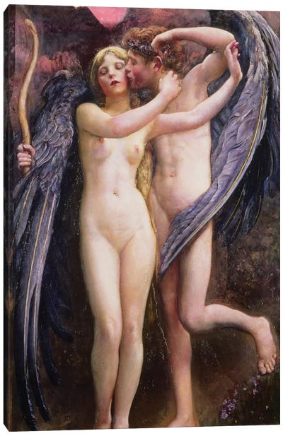 Cupid and Psyche Canvas Art Print