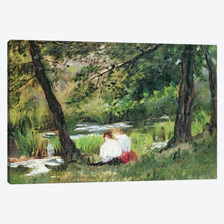 Two Seated Women Canvas Print #BMN6880} by Mary Stevenson Cassatt Canvas Print