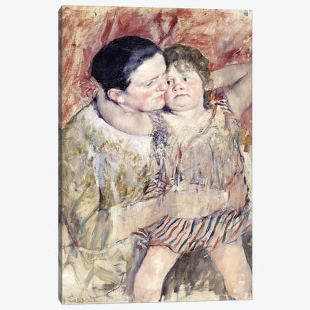 Woman And Child (Mathilde Holding A Child), c.1900 Canvas Print #BMN6881} by Mary Stevenson Cassatt Art Print