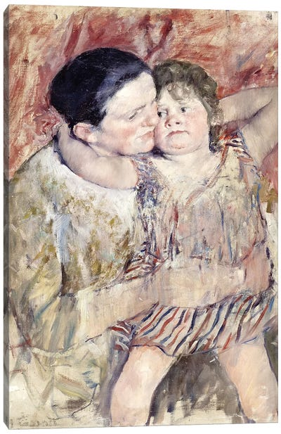 Woman And Child (Mathilde Holding A Child), c.1900 Canvas Print #BMN6881