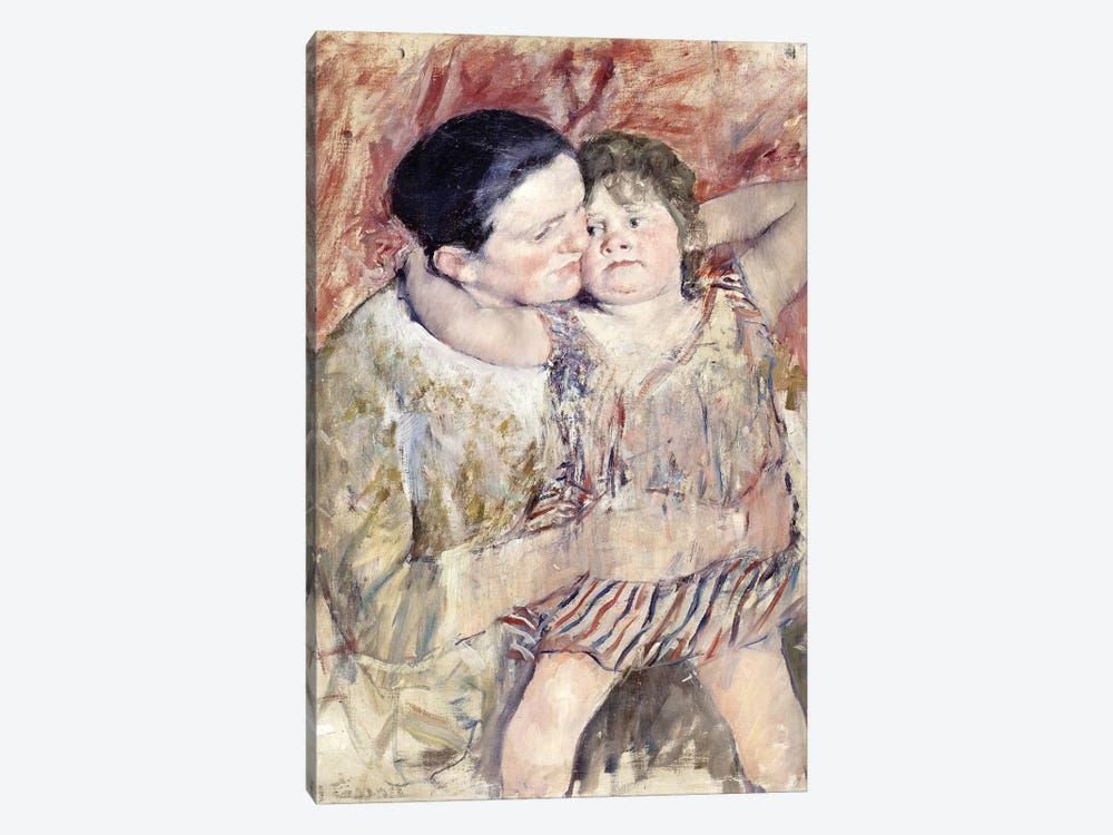 Woman And Child (Mathilde Holding A Child), c.1900 by Mary Stevenson Cassatt 1-piece Art Print