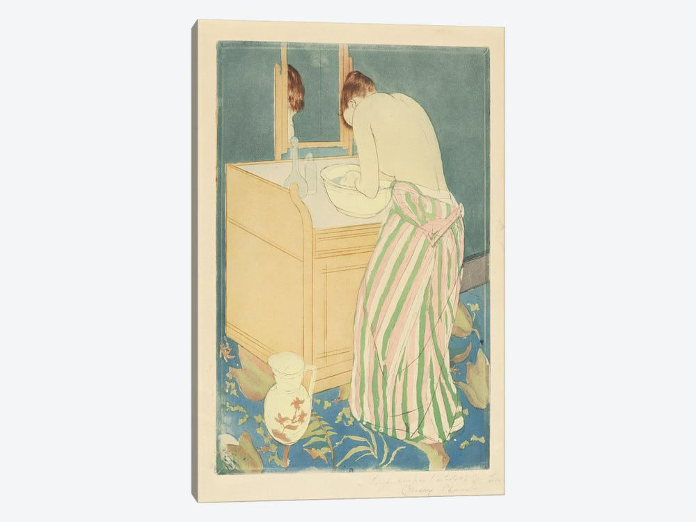 Woman Bathing, 1890-91 by Mary Stevenson Cassatt 1-piece Canvas Wall Art