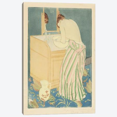 Woman Bathing, 1890-91 Canvas Print #BMN6882} by Mary Stevenson Cassatt Canvas Art Print