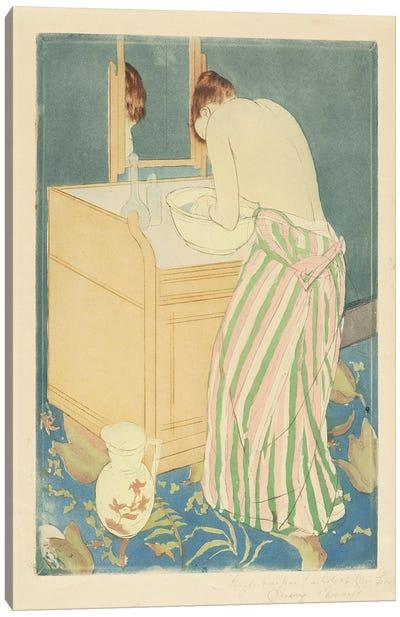 Woman Bathing, 1890-91 Canvas Art Print