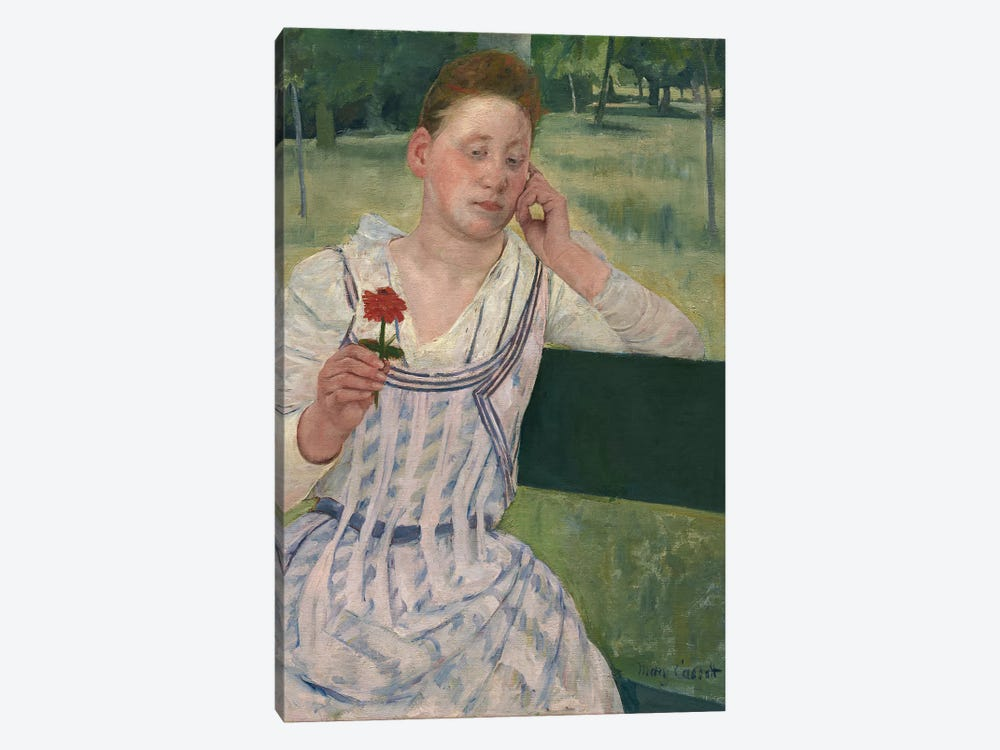 Woman With A Red Zinnia, 1891 1-piece Canvas Wall Art
