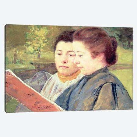 Women Reading Canvas Print #BMN6885} by Mary Stevenson Cassatt Canvas Wall Art