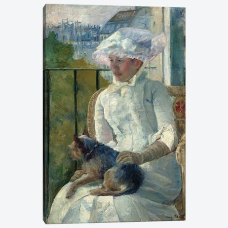 Young Girl At A Window, c.1883-84 Canvas Print #BMN6887} by Mary Stevenson Cassatt Canvas Art