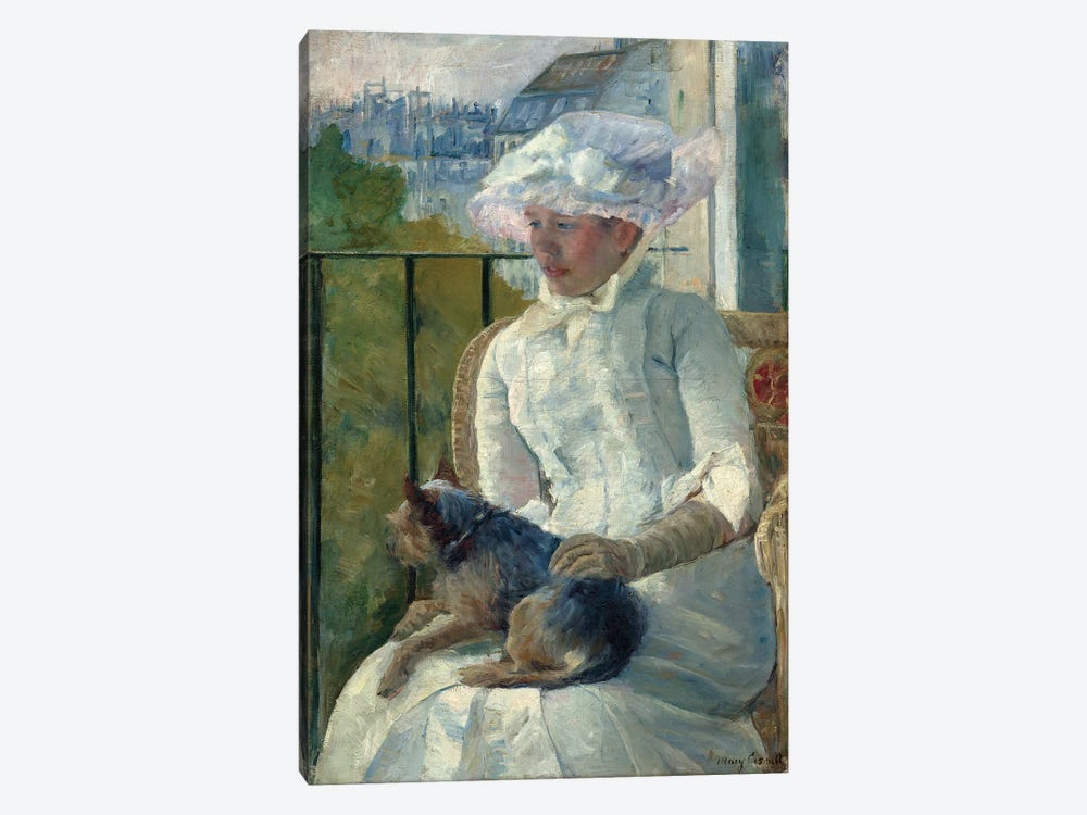 Young Girl At A Window, c.1883-84 by Mary Stevenson Cassatt 1-piece Canvas Print