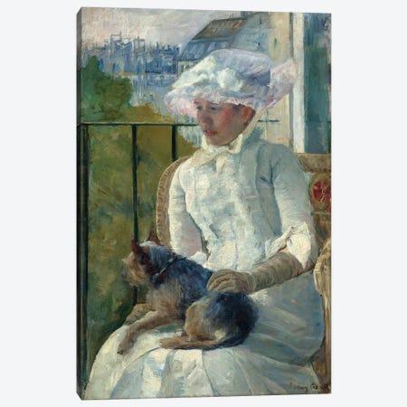 Young Girl At A Window, c.1883-84 Canvas Print #BMN6887} by Mary Stevenson Cassatt Canvas Art