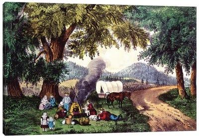 A Halt By The Wayside Canvas Art Print