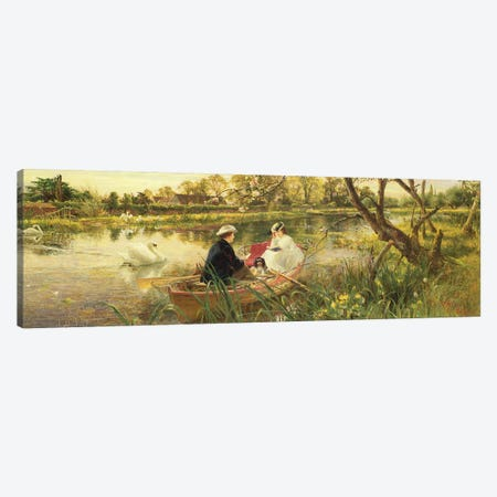 Our Holiday Canvas Print #BMN688} by Charles James Lewis Canvas Artwork