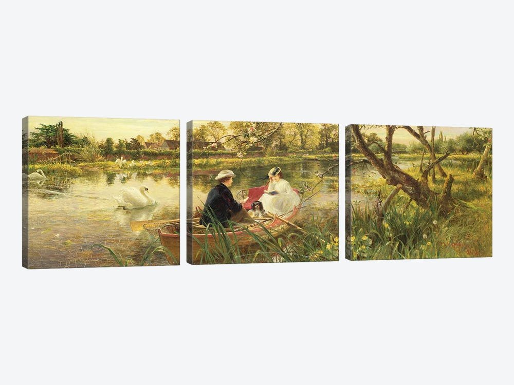 Our Holiday by Charles James Lewis 3-piece Canvas Art Print