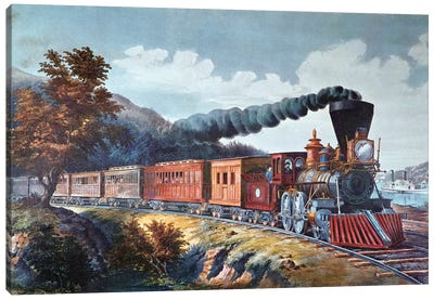 American Express Train, 1864 Canvas Art Print