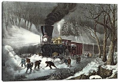 American Railroad Scene, 1871 Canvas Art Print