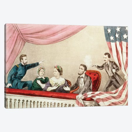 Assassination Of Abraham Lincoln Canvas Print #BMN6897} by Currier & Ives Canvas Print