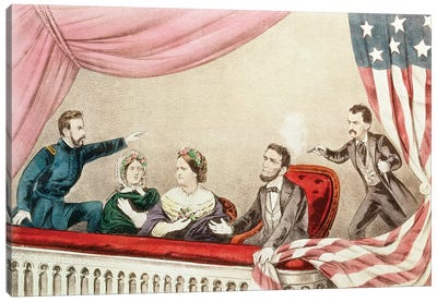 Assassination Of Abraham Lincoln Canvas Art Print