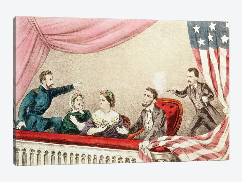 Assassination Of Abraham Lincoln by Currier & Ives 1-piece Canvas Artwork