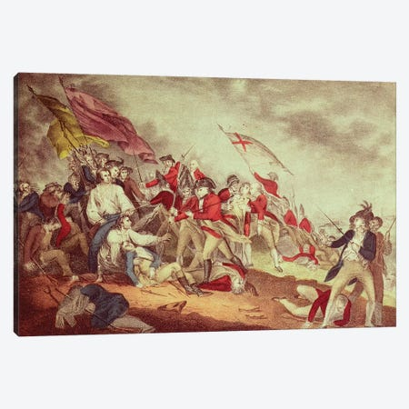 Battle At Bunker's Hill Canvas Print #BMN6899} by Currier & Ives Canvas Art