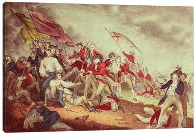 Battle At Bunker's Hill Canvas Art Print