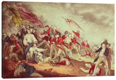 Battle At Bunker's Hill Canvas Art Print