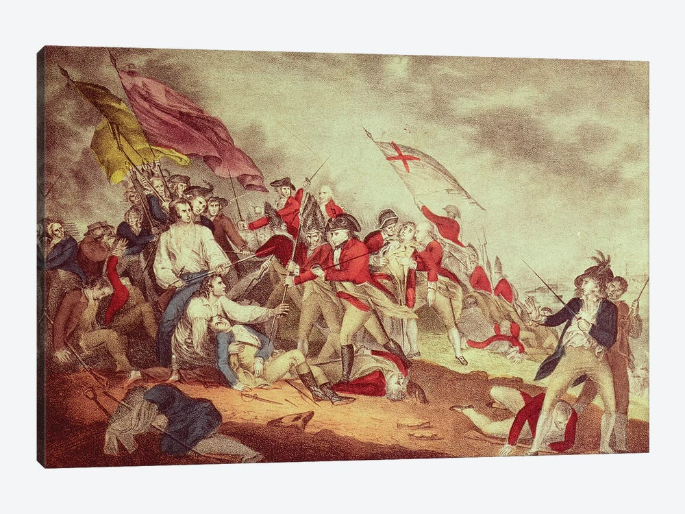 Battle At Bunker's Hill by Currier & Ives 1-piece Canvas Wall Art
