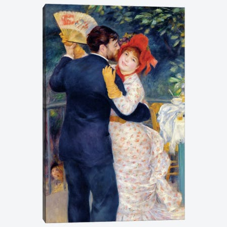 A Dance in the Country, 1883  Canvas Print #BMN689} by Pierre-Auguste Renoir Canvas Artwork