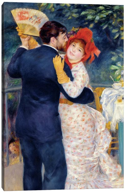 A Dance in the Country, 1883 Canvas Art Print