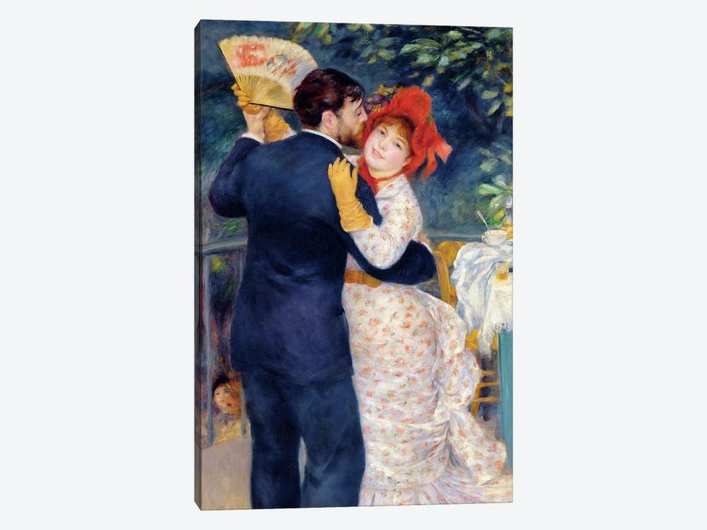 A Dance in the Country, 1883  by Pierre-Auguste Renoir 1-piece Canvas Wall Art