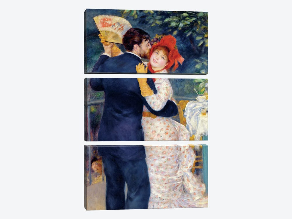 A Dance in the Country, 1883  by Pierre-Auguste Renoir 3-piece Canvas Artwork