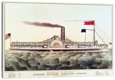 Buffalo & Chicago Steam Packet, Empire State Canvas Art Print