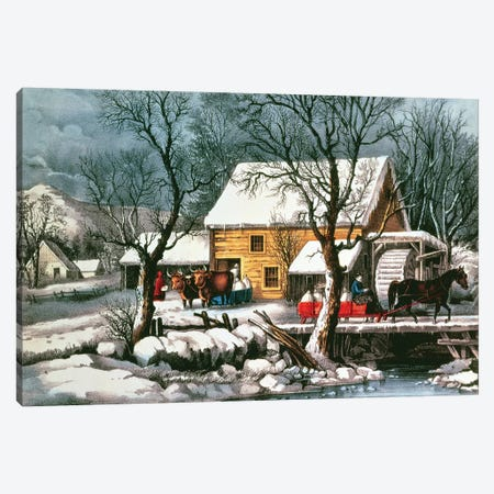 Frozen Up, 1872 Canvas Print #BMN6906} by Currier & Ives Art Print