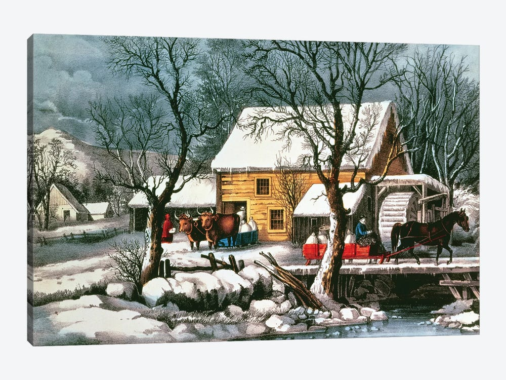 Frozen Up, 1872 by Currier & Ives 1-piece Art Print