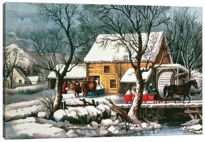 Frozen Up, 1872 Canvas Art Print