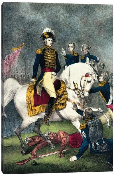 General William H. Harrison At The Battle Of Tippecanoe, 1840 Canvas Art Print