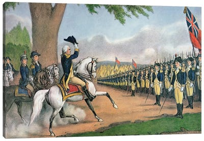 George Washington Taking Command Of The American Army At Cambridge, Massachusetts, 3rd July, 1775 Canvas Art Print