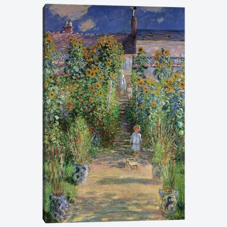 The Artist's Garden at Vetheuil, 1880  Canvas Print #BMN690} by Claude Monet Canvas Art Print
